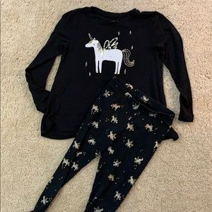 Cat & Jack, size 6/6x Unicorn shirt & legging set